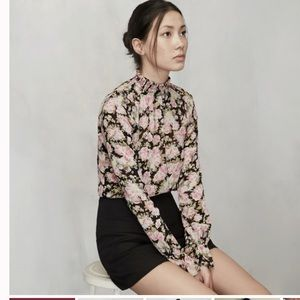 Reformation Jenning Blouse - China Rose Print
